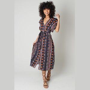 Dresses & Skirts - FREE SPIRIT MIDI DRESS|BOHO WRAP DRESS|MIDI DRESS